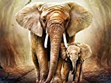 Palodio 5D Diamond Painting Kits Elephant, Paint with Diamonds Art Animal Paint by Numbers Full Round Drill Cross Stitch Crystal Rhinestone Home Wall Decoration 12x16 inch