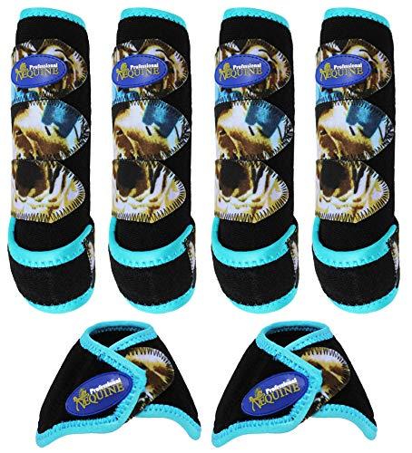 Professional Equine Horse Horse Sports Medicine Splint Boots & Bell Boots Combo 4176D