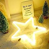 Stern-Neonlicht-LED sternförmig beleuchtet Kunst-dekorative Licht-Wand-Dekor, die durch USB/Batterie mit warmem Weiß für Kinder-Baby-Raum-Weihnachtshochzeitsfest-Dekoration betrieben wird