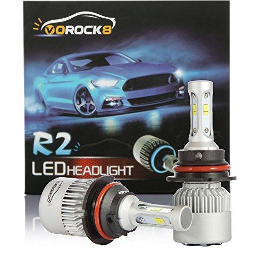 R2 CSP Seoul 9007 HB5 8000LM LED Headlight Conversion Kit, Hi/Lo beam headlamp, Dual Beam Head Light, HID or Halogen Head light Replacement, 6500K Xenon White, 1 Pair- 1 Year Warranty