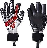 adidas Guantes de Portero Predator Pro para Hombre, Hombre, Color Silver Met./Black/HI-Res Red S18, tamaño 11,5