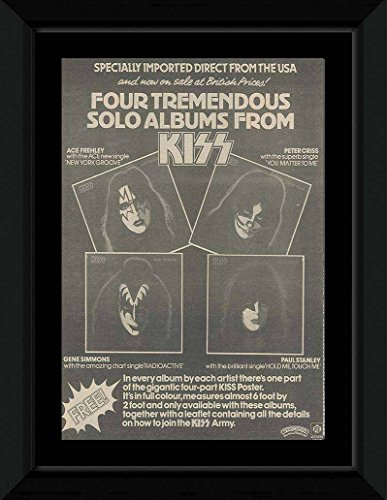 NME KISS - Solo Albums Framed Mini Poster - 53x43cm