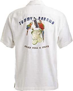 Tommy Bahama Embroidered Shake Well and Serve Silk Camp Shirt