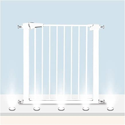 LELEGuardrail Super Wide Hole Installation Thru Isolation Fence Barrier With Pressure Mount Adjustable Baby Pet Safety Gates For Indoor Staircase Fireplace  Color High76 width  Size 166-173cm