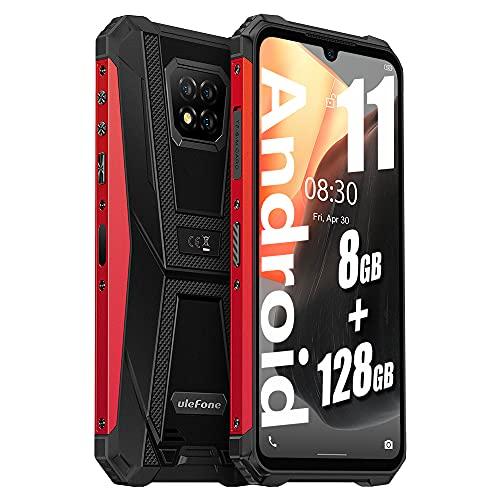 "Ulefone Armor 8 PRO(2021) Stoßfestes Android 11 4G Smartphone - Helio P60 Octa-Core 8 GB + 128 GB, 6,1\"" HD+ IP68 Robustes Handy ohne Vertrag, 5580 mAh Akku, 16MP + 5MP Kamera, NFC GPS Rot"