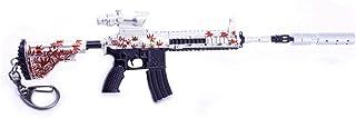1/6 Scala Mini Ciondolo In Metallo M416 Foglie di Acero Portachiavi Pistola Modello Regalo Zaino Ciondolo Forniture Da Tav...