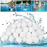 Material de filtro de 700 g En lugar de arena de filtro de 25 kg, adecuado para filtro de piscina, sistema de filtro de piscina, accesorios de limpieza de piscinas, accesorios de filtro, blanco