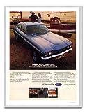 iPosters Ford Capri Blau Auto Werbung Print Silber