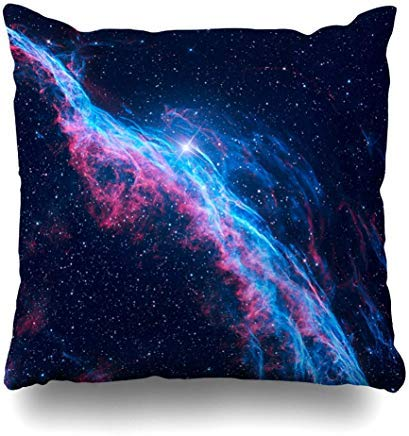 GFGKKGJFF0812 Sistema Galaxy brujas escoba nebulosa velo Constelación de la Naturaleza Espacio Hubble Universo Cosmos diseño Loop fundas de cojín 18 x 18 para Sofás Asientos Throw fundas de almohada para niñas
