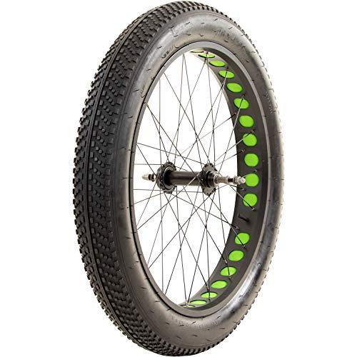 Galano Laufrad 26 Zoll Fahrrad Fatbike Mountainbike einzeln/Set vorne + hinten MTB Mittelsteg (grün, vorne)