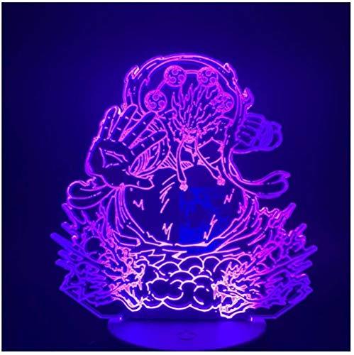 3D Led Nachtlicht Anime One Piece Figur Acryl Handwerk Nachtlicht Geschenk für Kind Junge Schlafzimmer Dekor Tischlampe 3D
