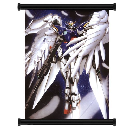 Gundam Wing Wing Zero Anime Fabric Wall Scroll Poster (16' x 21') Inches