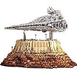 Technik Star Cruiser Empire Over Jedha City, 5162 piezas, juego de construcción de modelo de nave espacial UCS grande, bloques de sujeción compatibles con Lego A,50 * 31 * 34cm
