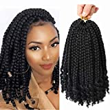 Best Hair For Crochet Braids - 6 Packs Crochet Box Braids Curly Ends 10 Review
