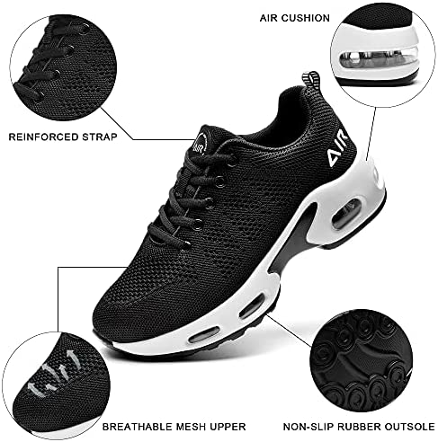 SURRAY Women's Air Running Shoes Walking Tennis Sneakers Non-Slip Athletic Fashion Casual Light Shoes(US5.5-11 B(M)