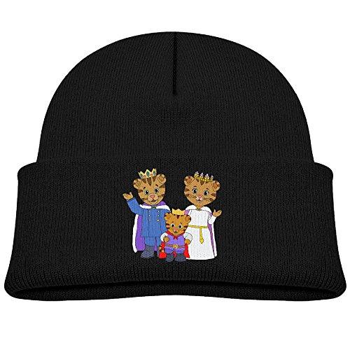 Kids Daniel Tiger's Neighborhood Boys Girls Knitted Beanie Cap Skull Hat Black