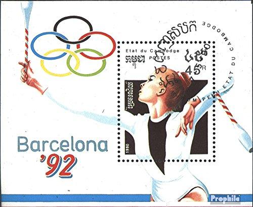 Prophila Collection Camboya Bloque 174 (Completa.edición.) 1990 Juegos olímpicos de Verano´92, Barcelona...