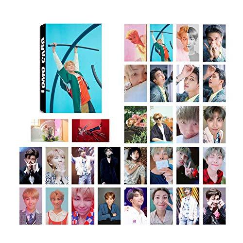 ALTcompluser BTS Bangtan Boys Lomo Photocard/Fotokarten Set, Jungkook/Jimin/V/Suga/Jin/J-Hope/Rap Monster Lomo Cards/Karten, Beste Geschenk für Army(RM Love Yourself 結 Answer)