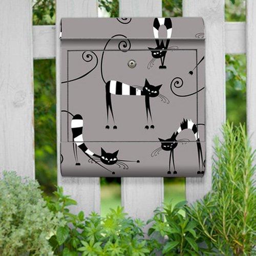 motivX-Ideenwerkstatt Briefkasten Kombi Wandbriefkasten mit Motiv Katzen Illustration