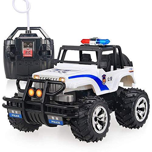 GRTVF Fernkampfsteuerung Buggy RC Polizei-Auto-2.4Ghz 4WD High Speed All Richtung Antrieb 01.14 Monster Truck Crawlers Chariot Spielzeug mit Stunt Fahrzeug Blinklicht for 3 Jahre alt Up