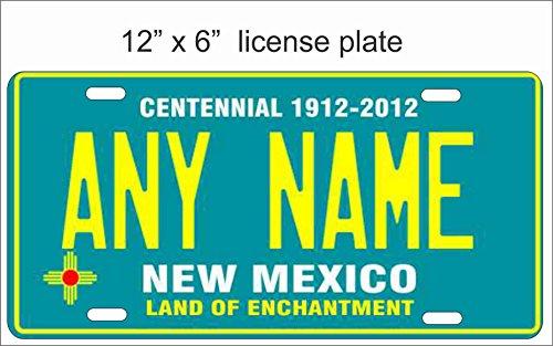 New Mexico State Replica Neuheit Nummernschild für Auto, Mini Nummernschild für Fahrräder, Fahrräder, Rollstühle, Golf Carts personalisiert mit Ihrem Text Custom Vanity Deko Teller kann als Türschild