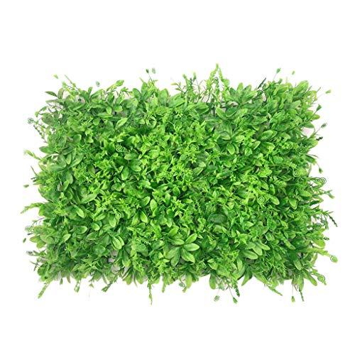 Gazon PING- Artificiel Haie Plante Panneau Mur, Pelouse d'herbe D'escargot De Plante Verte Réaliste (60x40cm / Pièce), Décoration De Clôture De Mur Anti-UV D'écran De Haie De Confidentialité