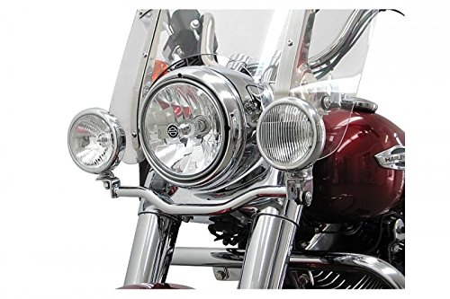 Fehling Motorrad Lampenhalter für Zusatzscheinwerfer HD Dyna Switchback FLD 2010-, chrom