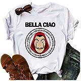 Camiseta de mujer para verano, graciosa, de Dalí, estilo informal, estampado divertido Blanco S