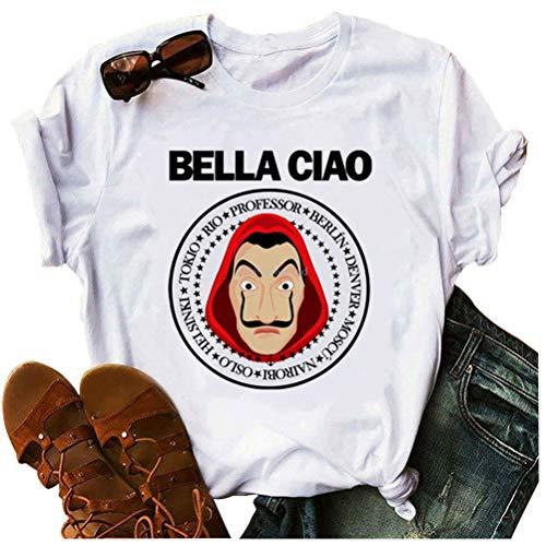 Damen Summer Urkomisch Dali T Shirt Beiläufig Lustiger Brief Gedruckt Grafik Tee Tops