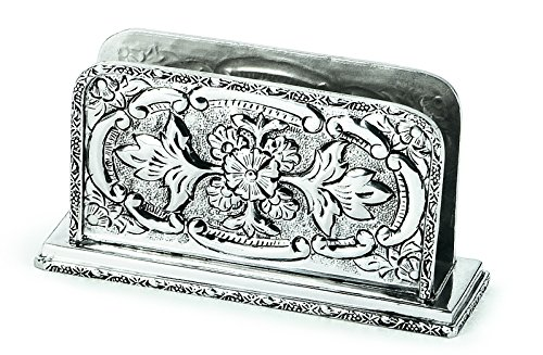 Chinelli Royal Britain Old Sheffield Porta Lettere Verticale, Metallo, Argento, 18x5x9.5 cm