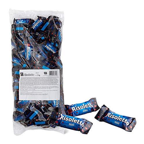 Frey 2kg Risoletto Mini Schokolade Beutel - Milchschokolade mit Reis-Crispies und Caramellfüllung - Schweizer Schokolade - Reisschokolade Großpackung 1x 2000 g - UTZ Zertifiziert