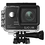 SJCAM SJ5000X Elite WiFi Action Camera, 4k@24FPS Underwater Video Camera- Gyro Stabilization/2' Large LCD Screen/Sony Sensor, 30M Waterproof with Case (Included)- Black