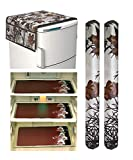 ♦ Package content : 1 Fridge Top Cover (Premium Quality) , 2 Handle Covers , 3 Piece Fridge Mats ♦ Made from : good quality Fabric material , pattern : beautiful modern design. ♦ Care instruction : easy to clean and wash ♦ Standard size product can b...