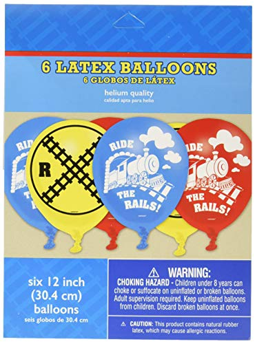 amscan Party Supplies Thomas All Aboard Printed Latex Balloons, Multi Color