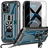 UMIONE Case for iPhone 12/iphone 12 pro 6.1 inch, with [Carabiner & Screen Protector], Heavy Duty Military Grade Rugged Phone Protective Case with Kickstand & Bottle opener for iPhone 12/iphone 12 pro