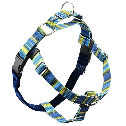 2 Hounds Design Freedom No Pull Dog Harness | Adjustable Gentle Comfortable Control for Easy Dog Walking |for Small Medium and Large Dogs | EarthStyle Designs | Made in USA