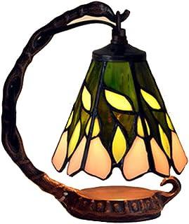 Tiffany Style Table Lampe de table, Lampe de décoration, 5 pouces Romantique Creative Glory Morning Glory LED Chambre de c...