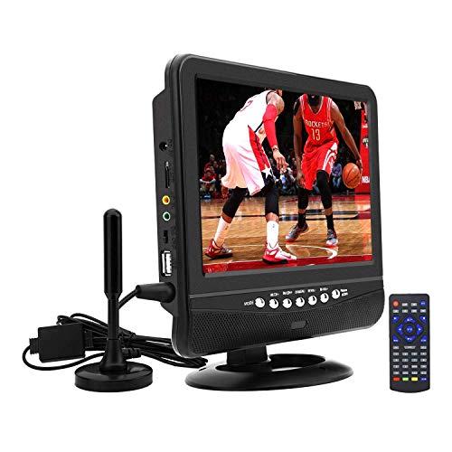 Draagbare lcd-tv, digitale DVB-T2-tuner, met batterij opladen, pak voor Europese landen, tv-programma binnen of buiten met auto-oplading
