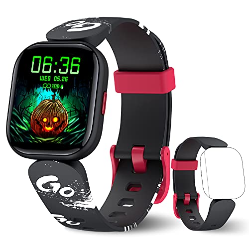 KeBuLe Kids Fitness Tracker, IP68 Waterproof Smart Watch for Boys Girls Teens with Heart Rate Monitor, Sleep Monitor, 19 Sports Modes Activity Tracker Watch with GPS, Step, Calorie, Gift for Kids