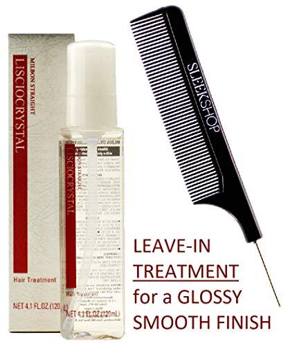 Milbon Straight LISCIOCRYSTAL Hair TREATMENT (Stylist Kit) Japanese Leave-In Shine Serum Oil for Glossy, Smooth, Shiny Hair from Japan (4.1 oz)