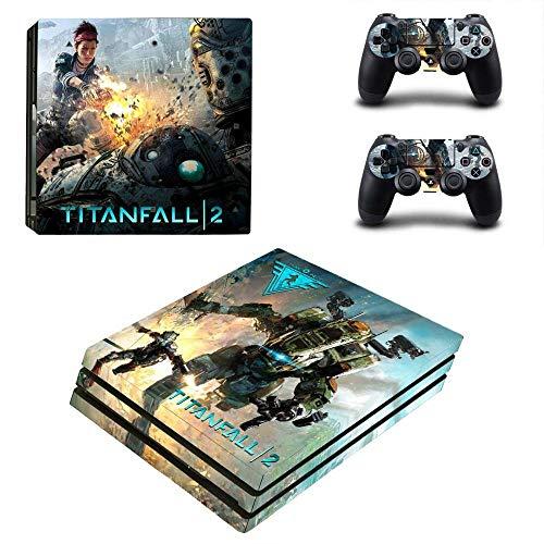 TSWEET Game Titanfall Ps4 Pro Sticker Playstation 4 Skin Sticker Decals for Playstation 4 Ps4 Pro Console & Controller Skins Vinyl