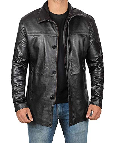 fjackets Bristol Men Black Jacket - Genuine Lambskin Black Leather Jacket for Men | [1500146], Bristol Black XXL