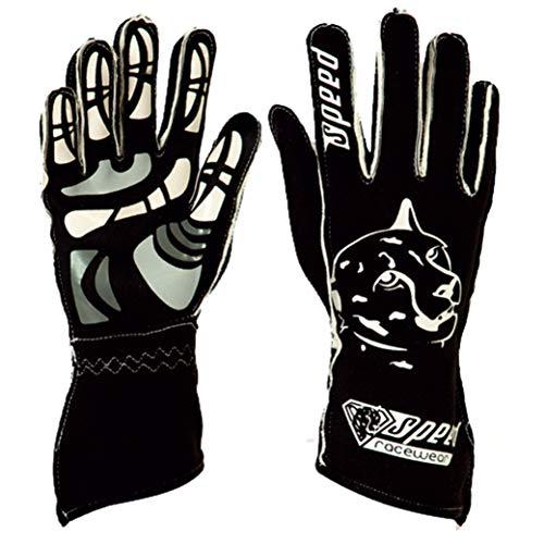 Speed Racewear - Motorsport Handschuhe - Karthandschuhe Melbourne - Schwarz/weiß (10)