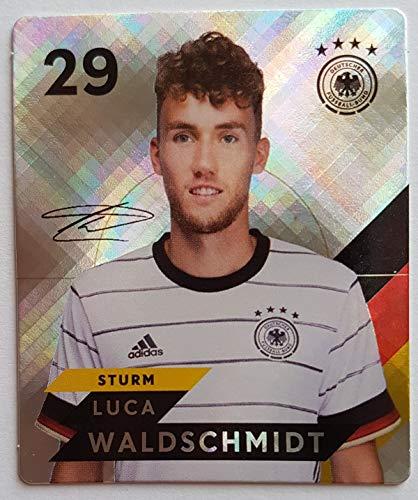 Rewe EM 2020 DFB - Sammelkarten - Glitzer - Luca Waldschmidt - Nr. 29 - Zusatzbonus 1 toysagent Sonderkarte