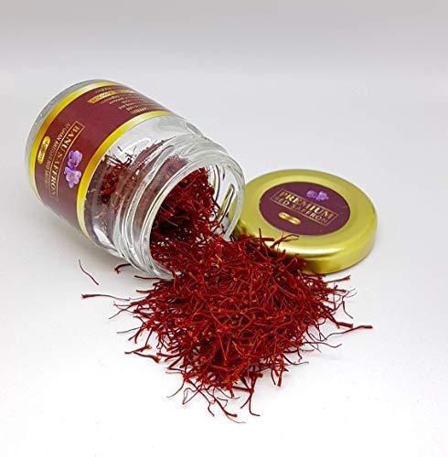 Safran Rouge Biologique de Première Qualité - Grade 1 - 100% Pur Tout Rouge Safran Authentique (4.00)