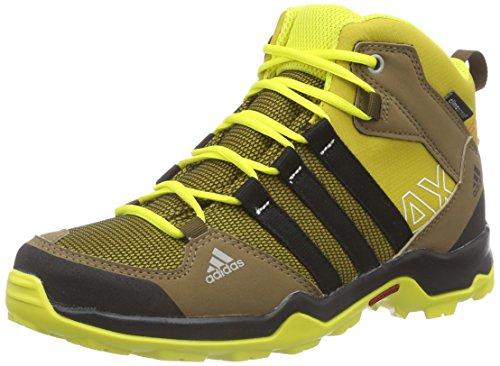 adidas AX2 Mid CP, Botas de montaña Niños^Niñas, Naranja-Orange (Raw Ochre F15/Core Black/Bright Yellow), 37 1/3