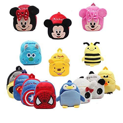 Pluche Rugzakken - grappige vreugde nieuwe schattige cartoon kinderen pluche rugzak speelgoed mini school tas kinderen geschenken jongen meisje baby student tassen mooie portemonnee - door KLMF - 1 PC's, 11cm-30cm Roze Grijs