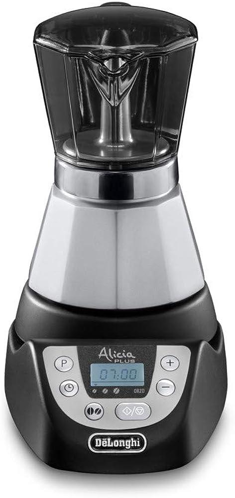 De`longhi alicia plus,caffettiera moka elettrica 2-4 tazze, 450 w EMKP42.B