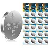 EXTRASTAR CR2032 alkaline 3V non-rechargeable battery batterie a bottone al litio, confezioni da 20