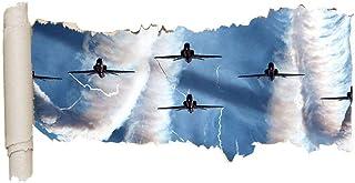qingfeng Wall Sticker Airshow RAF Spitfire Jet Vinyl Ripped Hole Girl Boy F014